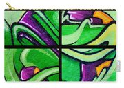 Graffiti In Green Carry-all Pouch