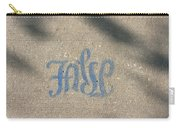 Graffiti Of False In Blue Carry-all Pouch