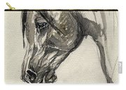 Grafik Polish Arabian Horse Ink Drawing Carry-all Pouch