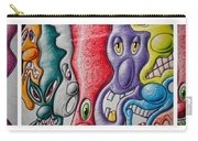 Grafitti Triptych Carry-all Pouch