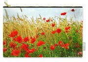 Grain And Poppy Field Carry-all Pouch