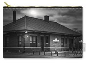 Train Depot At Night - Noir Carry-all Pouch