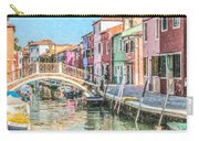 Grand Canal Burano  Venice Carry-all Pouch