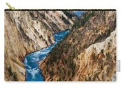 Grand Canyon Of Yellowstone Carry-all Pouch by Bill Gallagher