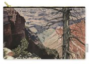 Grand Canyon View Weathered Tree Right Side  Carry-all Pouch