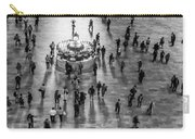 Grand Central Terminal Clock Birds Eye View II Bw Carry-all Pouch