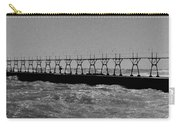 Grand Haven Light In Black And White Carry-all Pouch