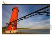Grand Haven Lighthouse Carry-all Pouch by Adam Romanowicz