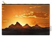 Grand Teton Sunrise Carry-all Pouch