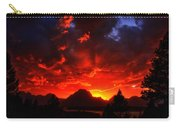 Grand Teton Sunset Carry-all Pouch
