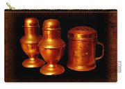 Grandma's Kitchen-copper Salt Pepper  And Flour Shakers Carry-all Pouch