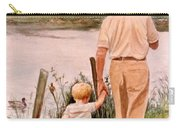 Little Boy And Grandpa In Park Carry-all Pouch