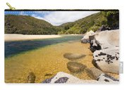 Granite Boulders In Abel Tasman Np In New Zealand Carry-all Pouch