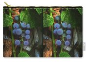 Grapes On The Vine - Gently Cross Your Eyes And Focus On The Middle Image Carry-all Pouch