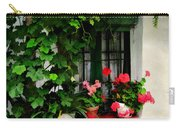 Grapevines And Geraniums Around A Window Carry-all Pouch