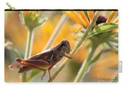 Grasshopper On Coneflower Stem Carry-all Pouch