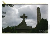 Grave Cross And The Round Tower Carry-all Pouch