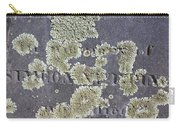 Gravestone With Lichen Carry-all Pouch