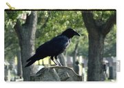 Graveyard Bird On Top Of A Tombstone Carry-all Pouch