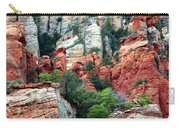 Gray And Orange Sedona Cliff Carry-all Pouch