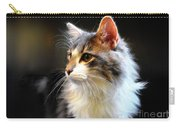 Gray And White Cat Carry-all Pouch