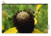 Gray Cone Flower Carry-all Pouch