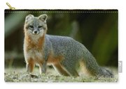 Gray Fox On Alert Carry-all Pouch