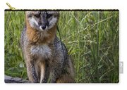 Gray Fox Posing Carry-all Pouch