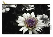 Gray Petals Carry-all Pouch