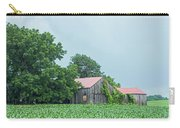 Gray Sky - Red Roofed Barn - Green Fields Carry-all Pouch