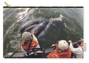 Gray Whale Calf And Tourists Baja Carry-all Pouch