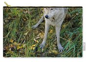 Gray Wolf Drinking Carry-all Pouch