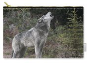 Gray Wolf Howling Endangered Species Wildlife Rescue Carry-all Pouch