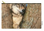 Gray Wolf In Tree Canis Lupus Carry-all Pouch
