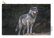 Gray Wolf On Hillside Endangered Species Wildlife Rescue Carry-all Pouch