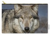 Gray Wolf Portrait Carry-all Pouch