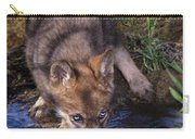 Gray Wolf Pup Endangered Species Wildlife Rescue Carry-all Pouch