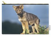 Gray Wolf Pup Montana Carry-all Pouch