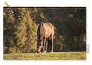 Grazing Horse At Sunset Carry-all Pouch