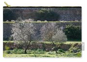 Grazing Sheep In Terrace Landscape. Carry-all Pouch
