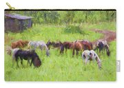 Grazing Trail Horses Carry-all Pouch