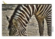 Grazing Zebra At The Buffalo Zoo 2 Carry-all Pouch