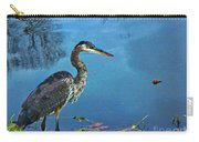 Great Blue Along The Canal Carry-all Pouch