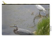 Great Blue And White Egrets Carry-all Pouch