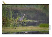 Great Blue Heron At Down East Maine Wetland Carry-all Pouch