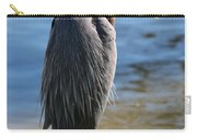 Great Blue Heron By Pond Carry-all Pouch