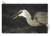 Great Blue Heron Eating Marine Iguana Carry-all Pouch by Tui De Roy
