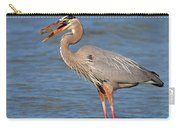 Great Blue Heron Flipping A Shrimp Carry-all Pouch