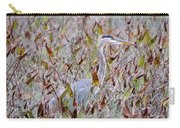 Great Blue Heron In Fall Marsh Carry-all Pouch
