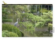 Great Blue Heron In Pond Kyoto Japan Carry-all Pouch